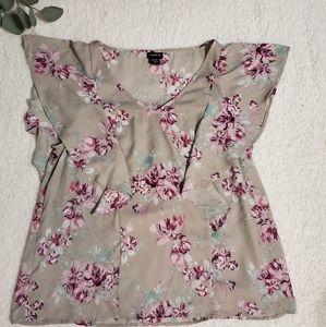 Torrid Size 00 Floral Blouse